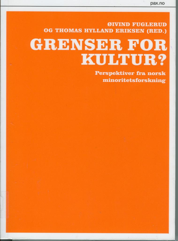 Grenser for kultur? : perspektiver fra norsk minoritetsforskning