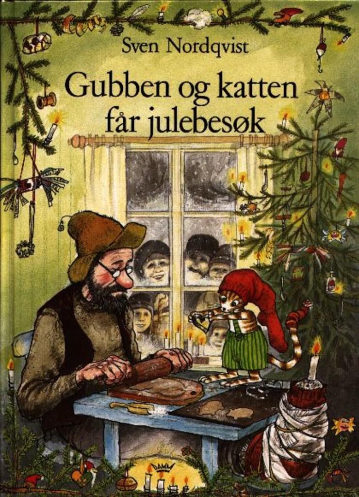 Gubben og katten får julebesøk