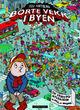 Omslagsbilde:Borte vekk i byen : en utbretts-myldrebok med spill og oppgaver