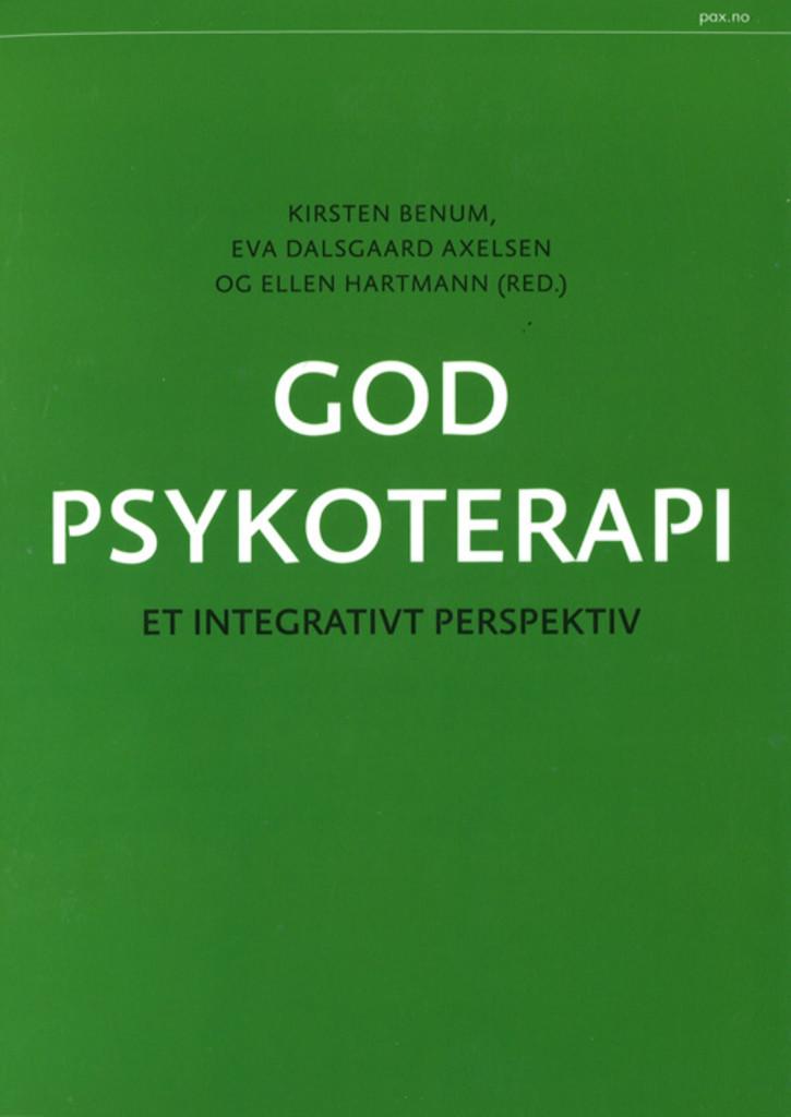 God psykoterapi : et integrativt perspektiv