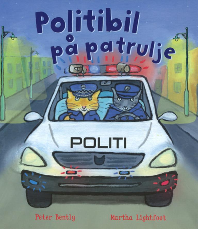Politibil på patrulje