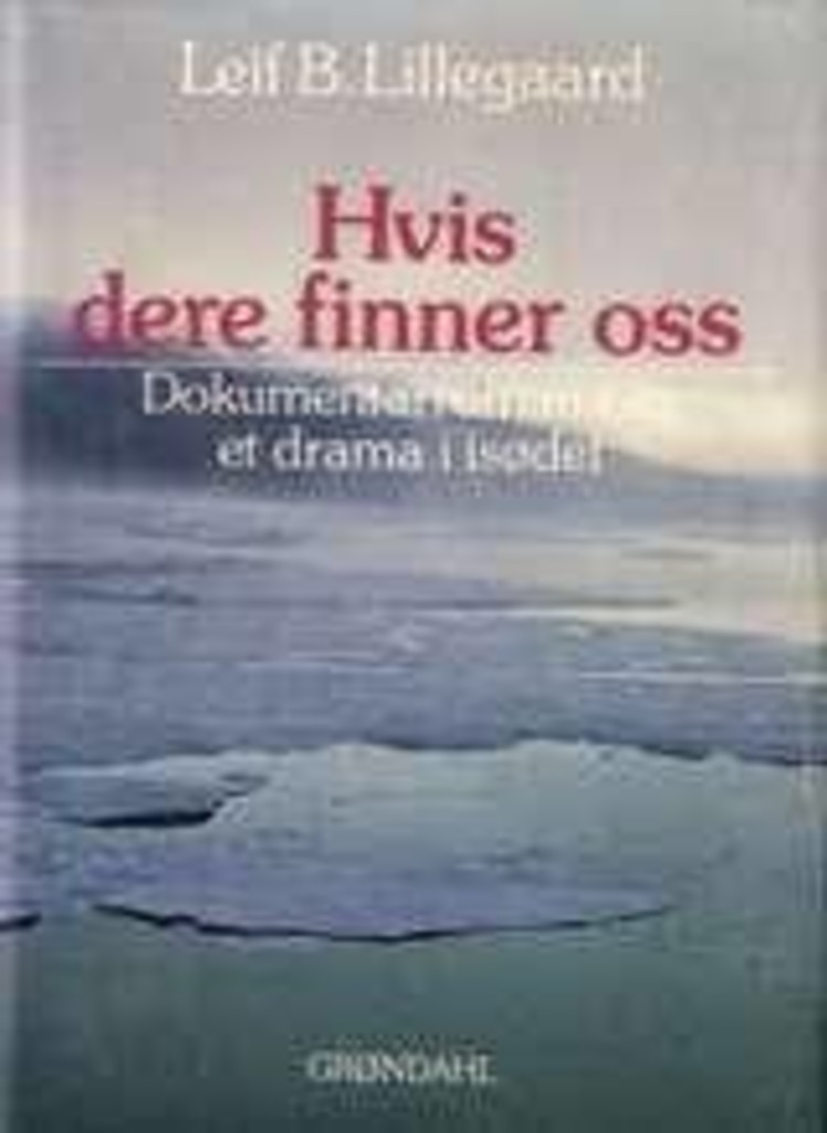 Hvis dere finner oss : dokumentarroman om et drama i isødet