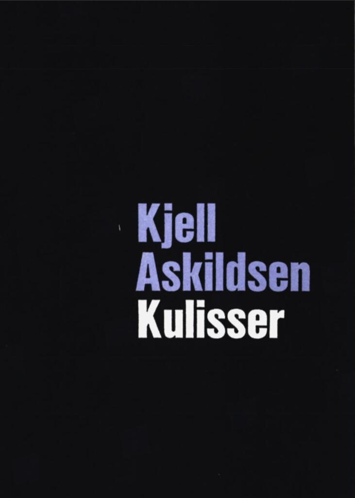 Kulisser : noveller