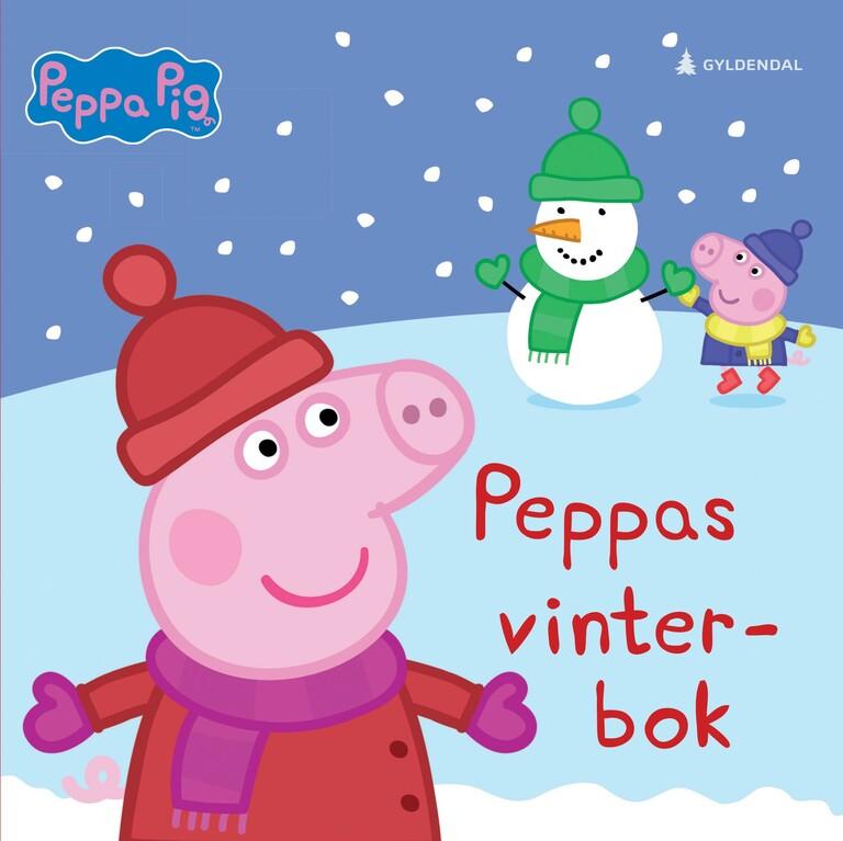 Peppa leker i snøen