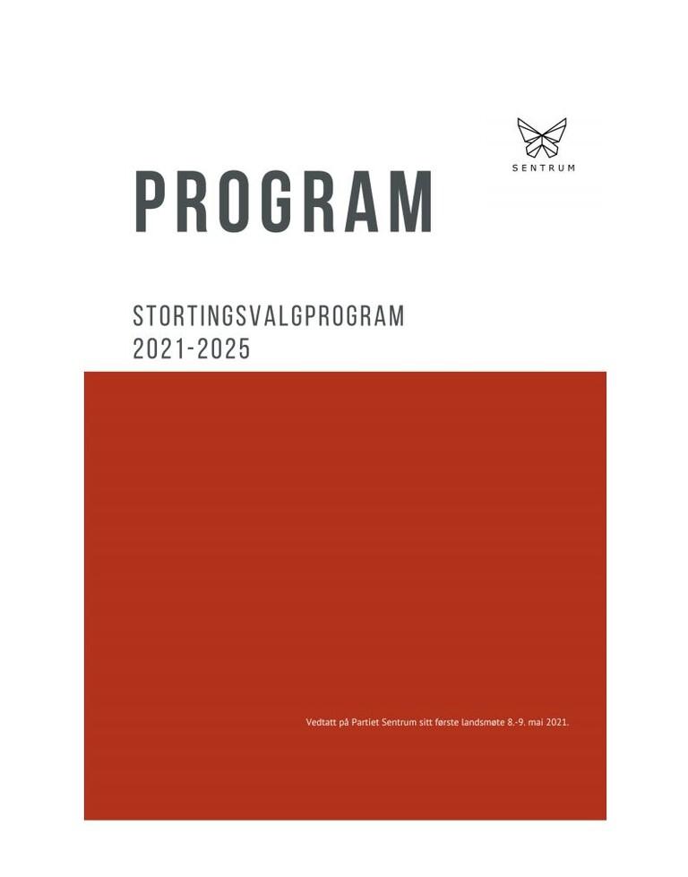 Partiet Sentrums stortingsvalgprogram 2021-2025