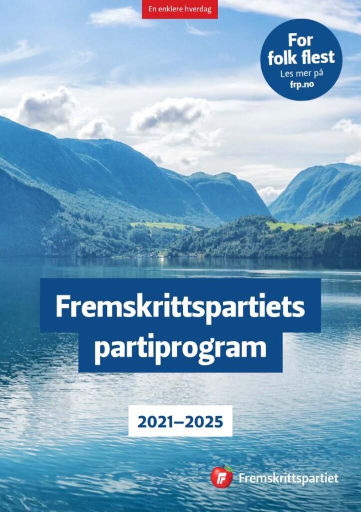 Fremskrittspartiets partiprogram 2021-2025