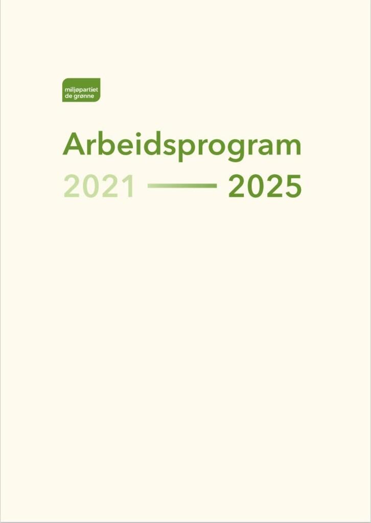 Miljøpartiet de grønnes arbeidsprogram 2021-2025